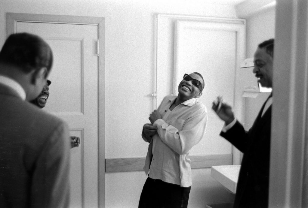 Ray Charles before a show, 1966.