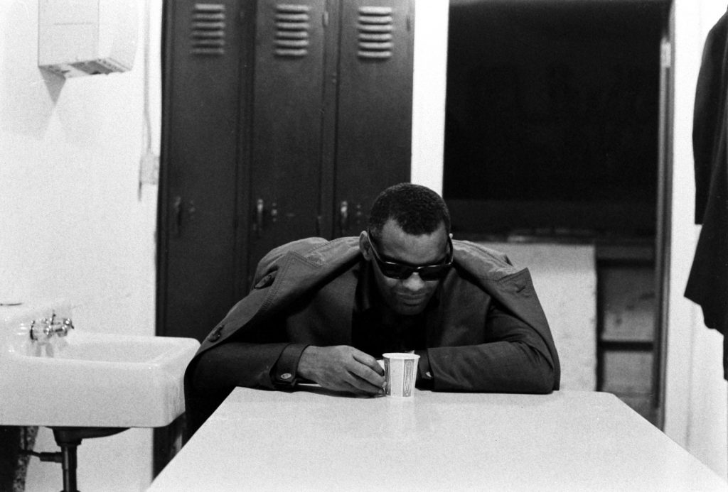 Ray Charles before a show, 1966