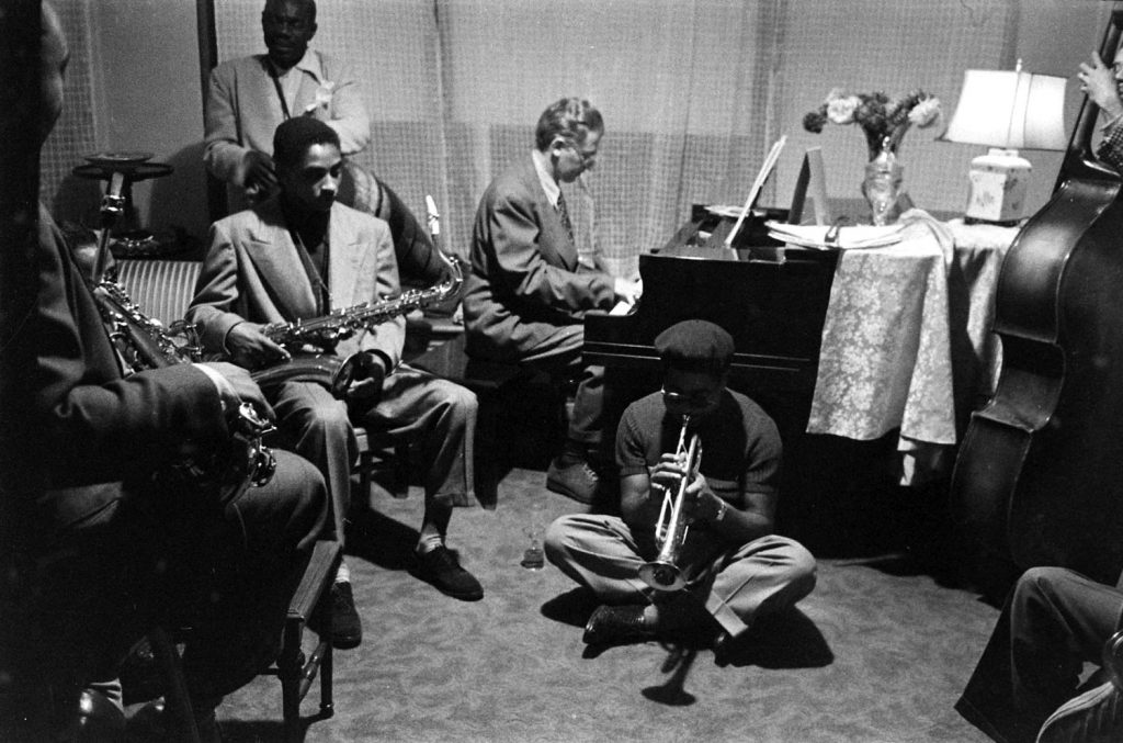 Dizzy Gillespie and friends, including pianist Mel Powell1948.