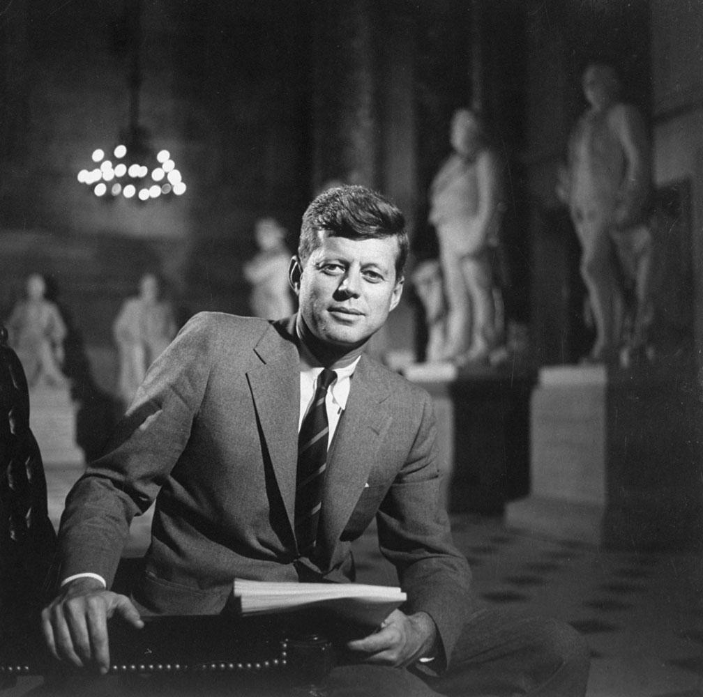 Senator John F. Kennedy, 1957.
