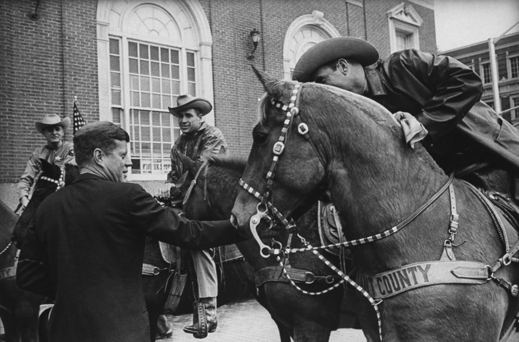 President John Kennedy in Fort Worth, Texas, Nov. 22, 1963, shortly before flying to Dallas.