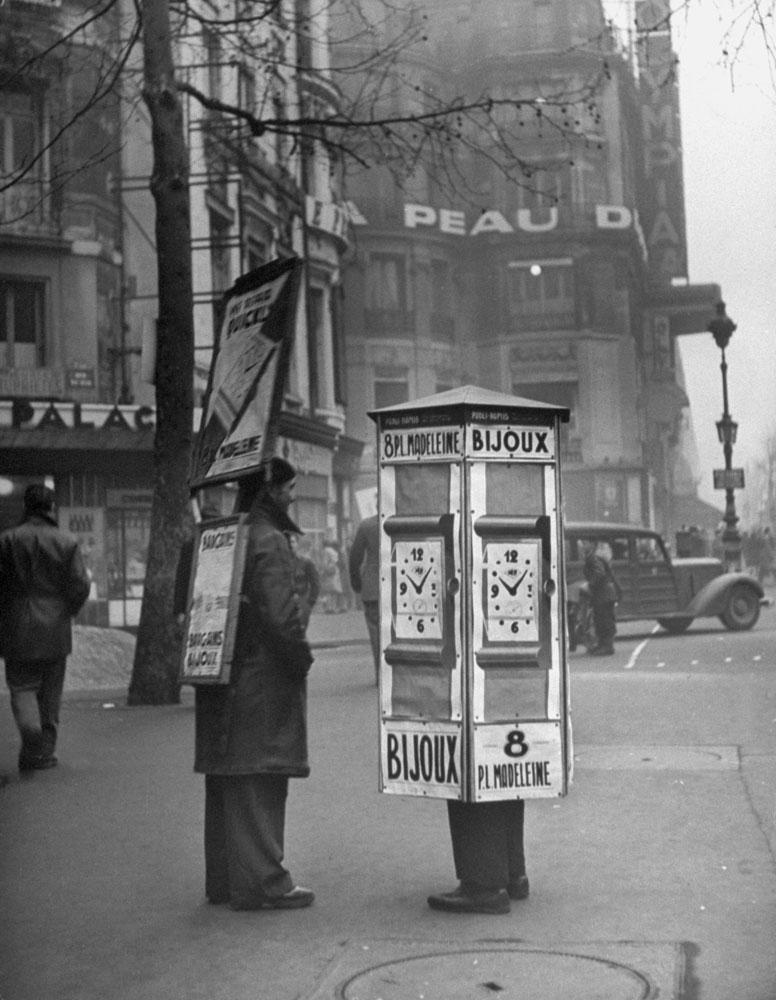 Paris street scene, 1946.
