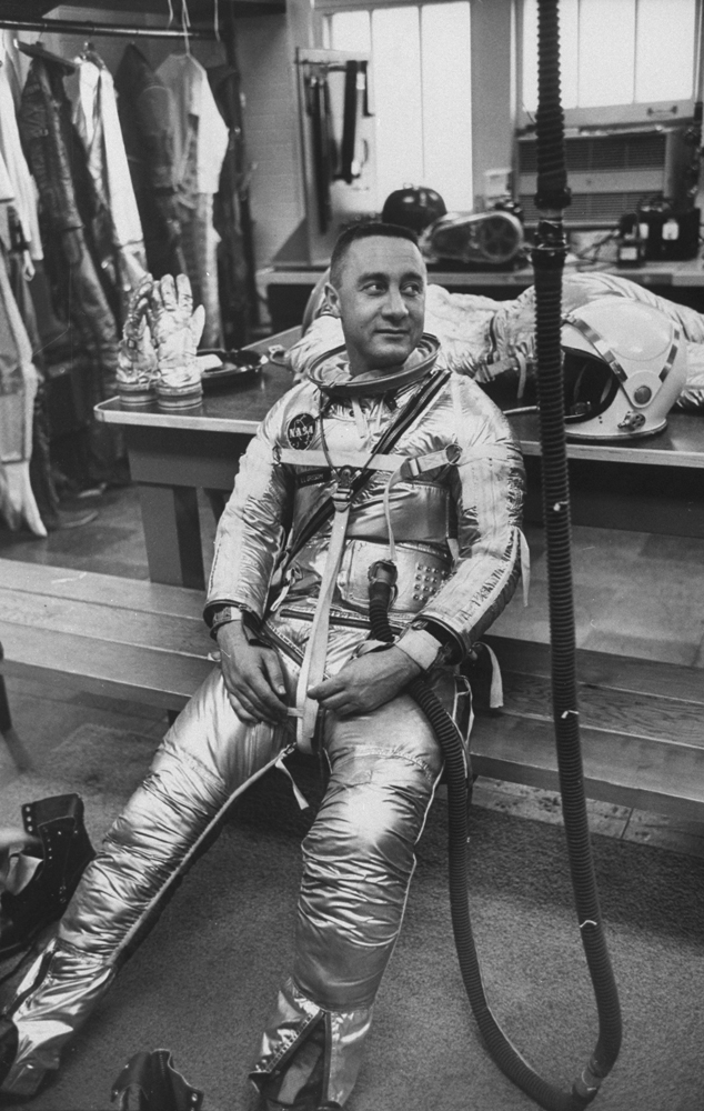 Astronaut Gus Grissom in his space suit.