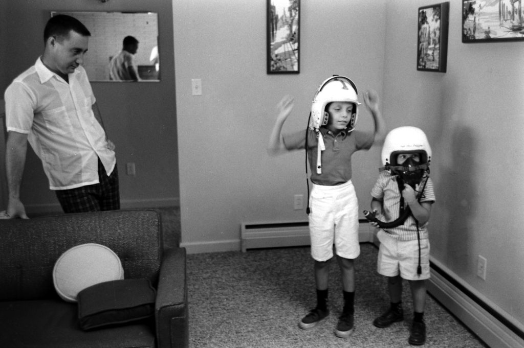 Astronaut Gus Grissom with his sons.