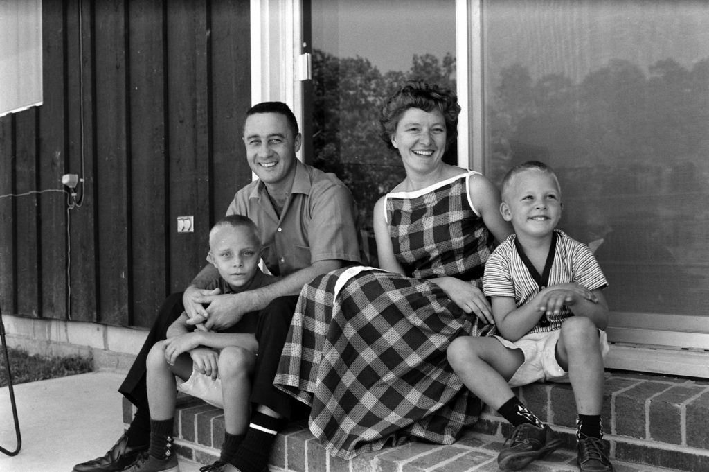 114363332.jpgGus Grissom with his wife Betty and their sons Scott and Mark.