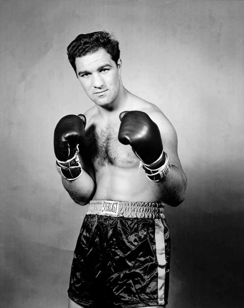 Rocky Marciano, still the only heavyweight champ to retire undefeated, 1951.
