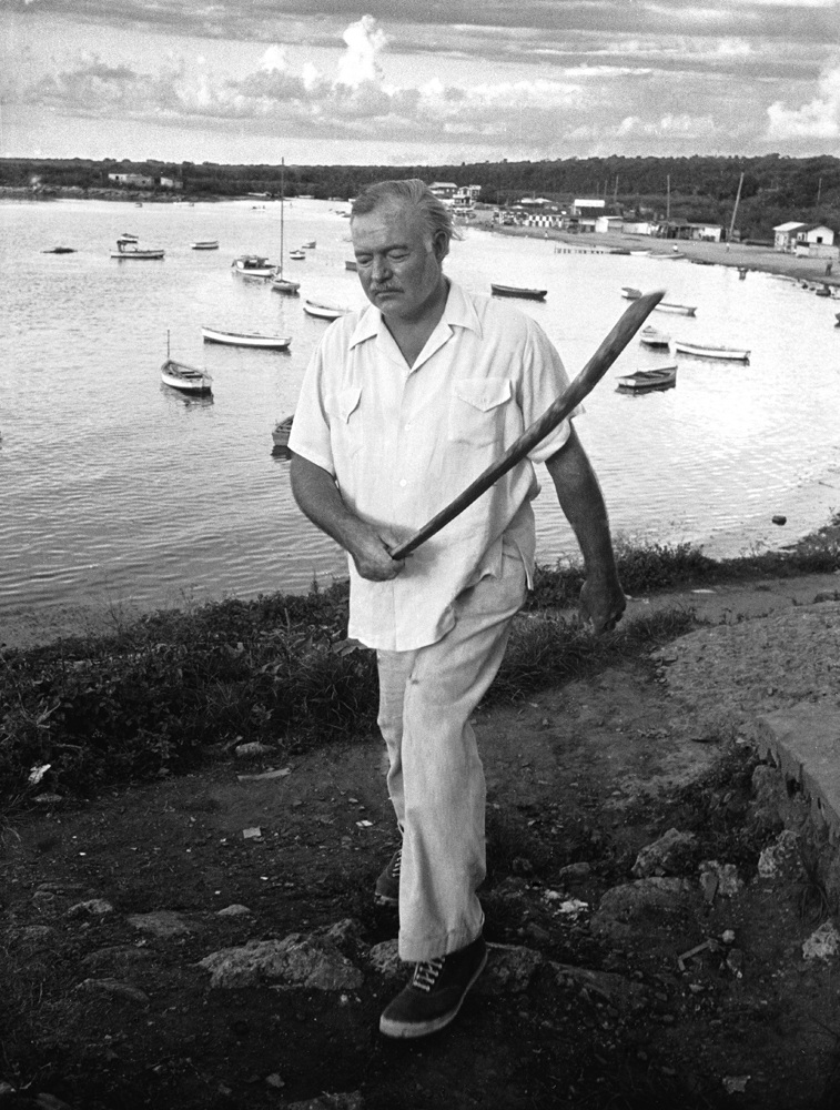 Ernest Hemingway, Cuba, 1952.
