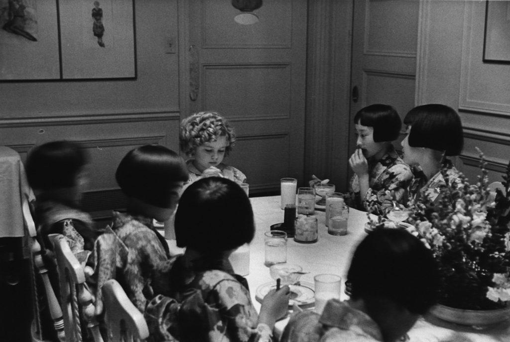 Shirley Temple celebrates her eighth birthday, 1936.