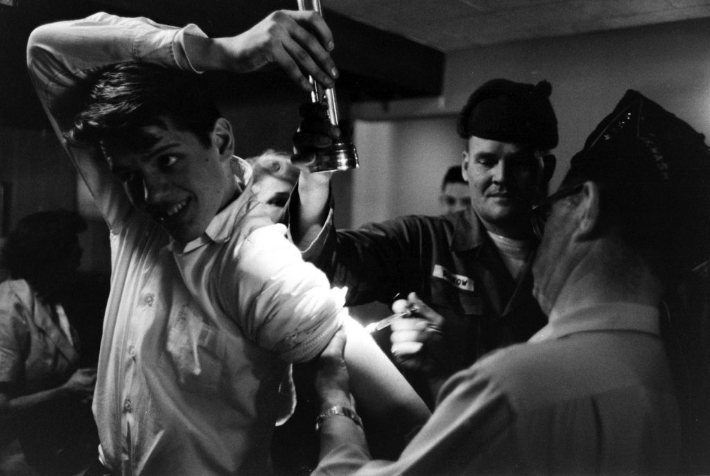 People receiving medical treatment after the March 1964 Good Friday Earthquake, Alaska.