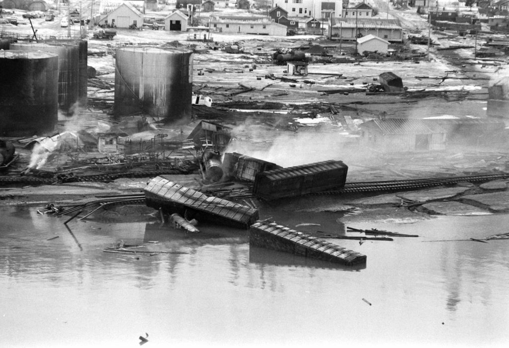 After the March 1964 Good Friday Earthquake, Alaska.