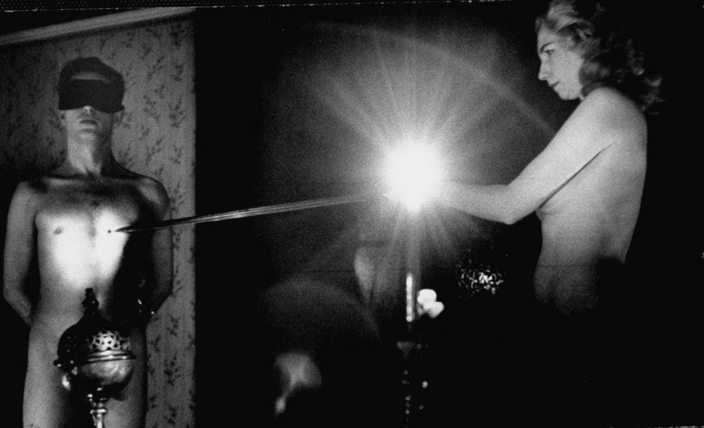 A witchcraft initiation ceremony, England, 1964.