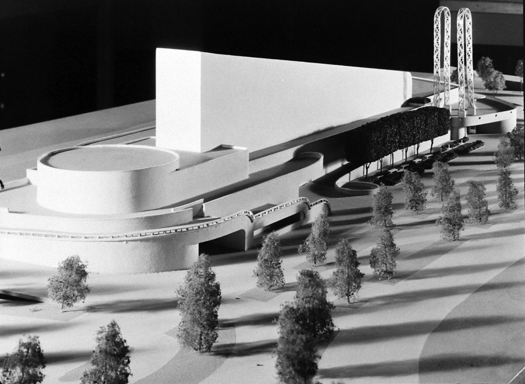 Architectural model for a textile building created for the 1939 New York World's Fair.