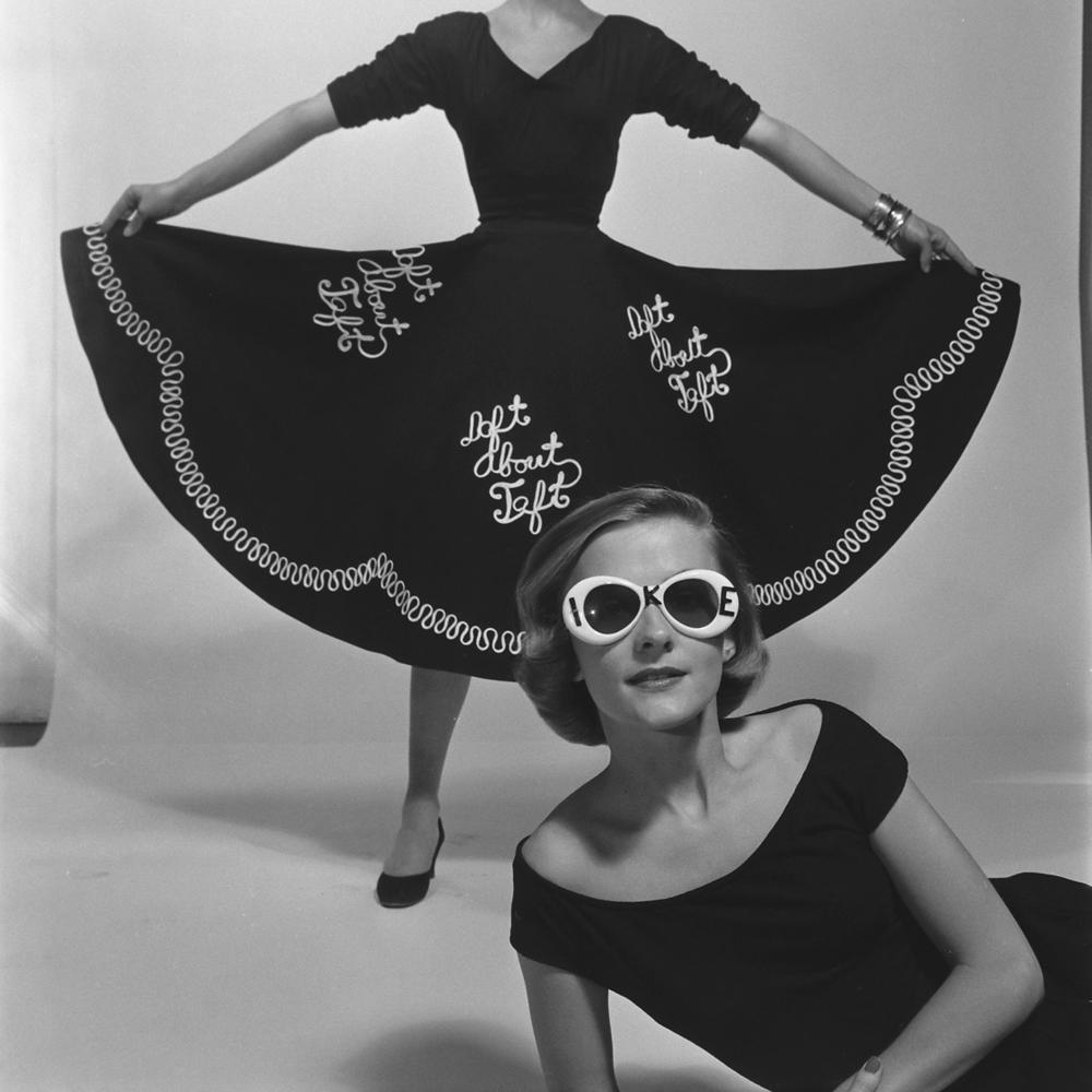 Political fashion statement, 'Daft About Taft,' 1952.