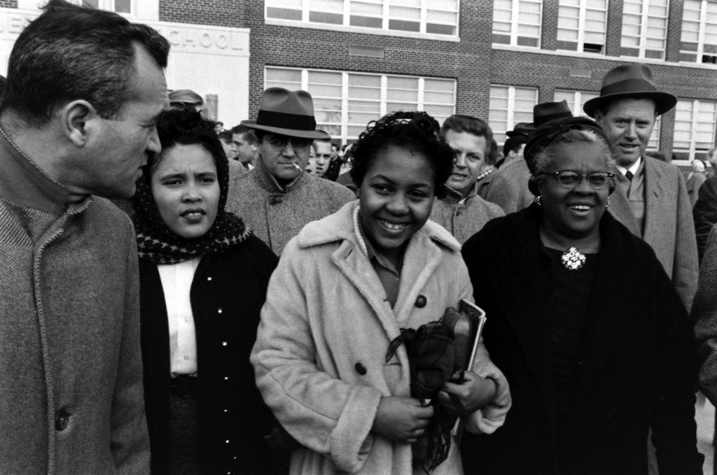Desegregation of Norfolk, Va., public school, 1959.