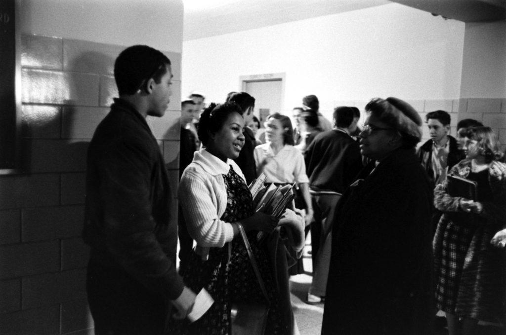 Desegregation of Norfolk, Va., public school, 1959. Students: Freddy Gonsouland, Patricia Godbolt.