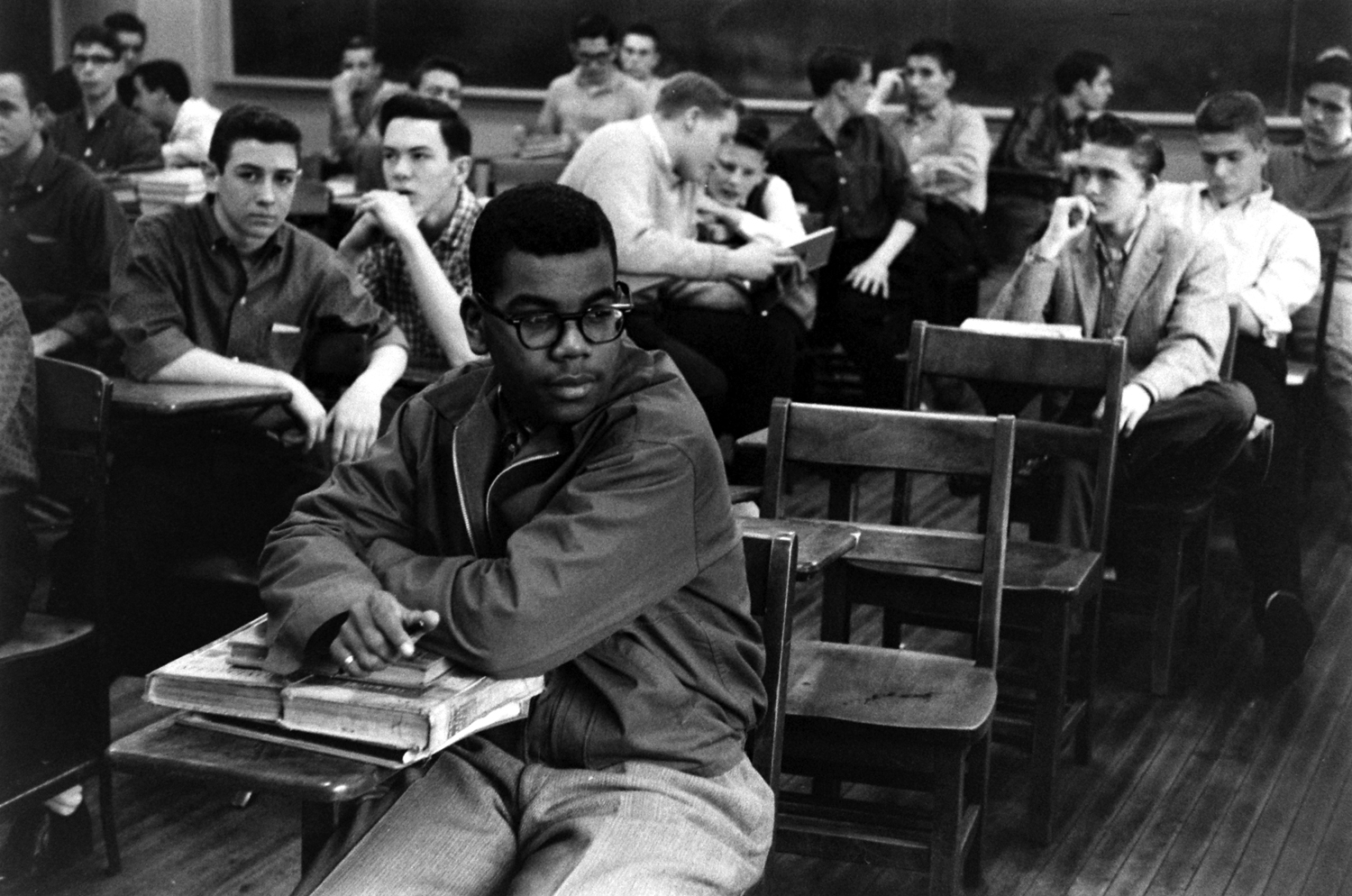 Fifteen-year-old Louis Cousins, Maury High School, Norfolk, Va., 1959.