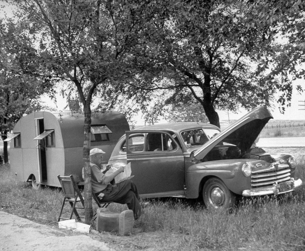 Scene along Route 30, Nebraska, USA, 1948.