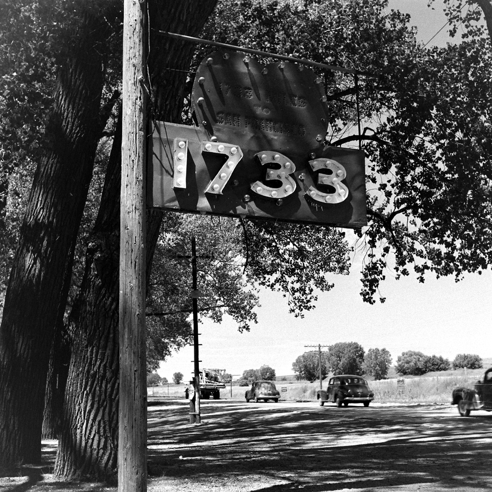 The 1733 Dance Hall -- reportedly 1,733 miles from both Boston and San Francisco -- in Kearney, Neb., 1948.