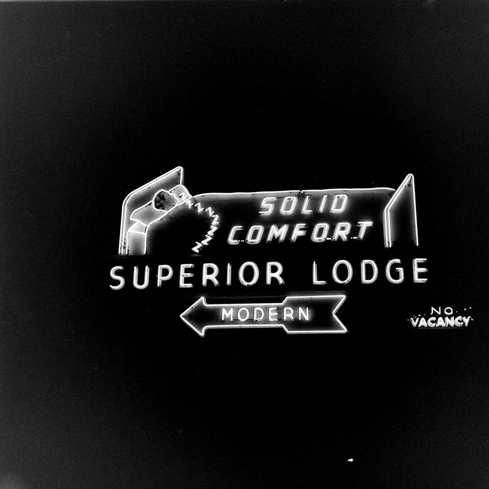 Motor lodge along Route 30, USA, 1948.
