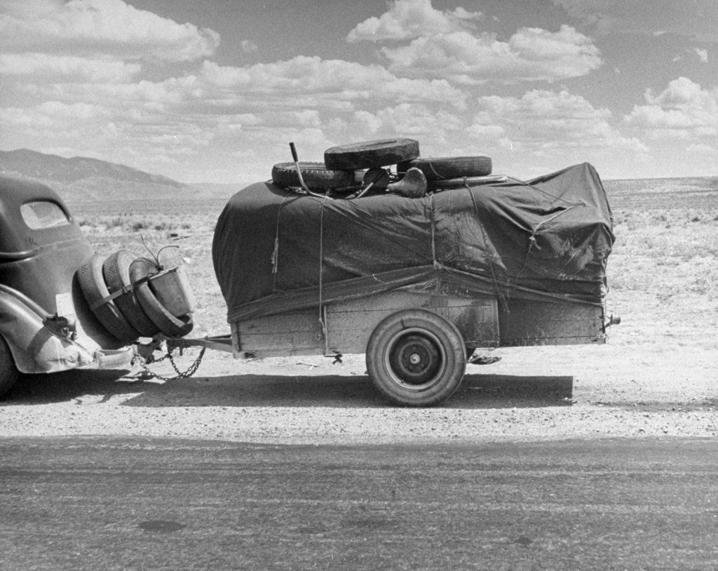 Scene along Route 30, USA, 1948.