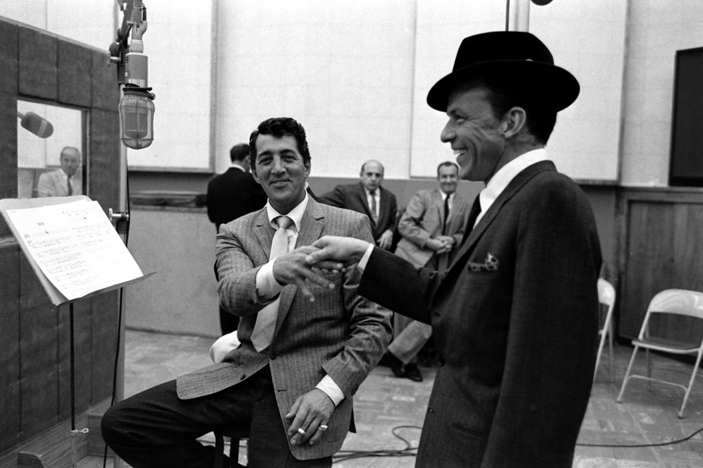 Dean Martin and Frank Sinatra, 1958.