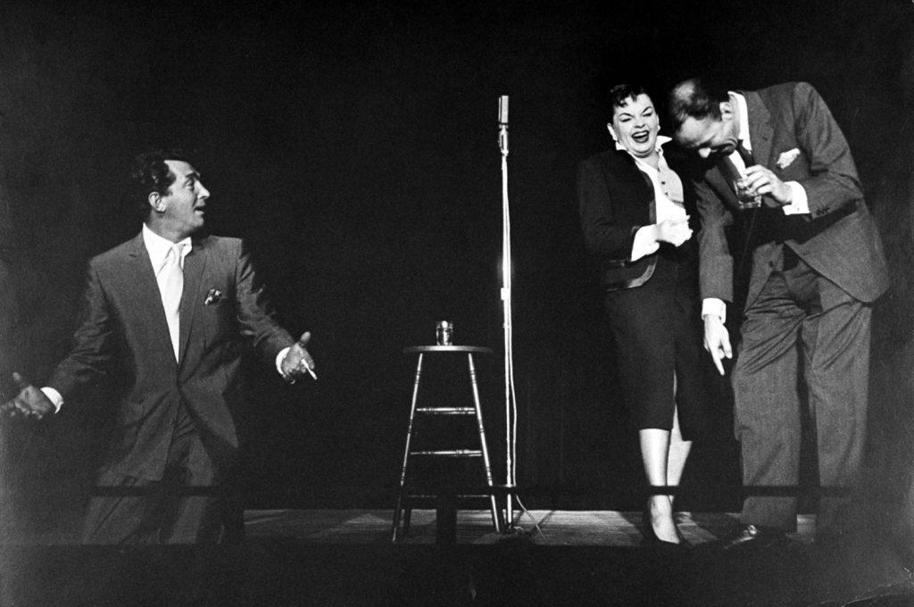 Dean Martin, Judy Garland and Frank Sinatra, 1958.