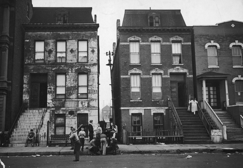 Tenement, West Side of Chicago, 1944.