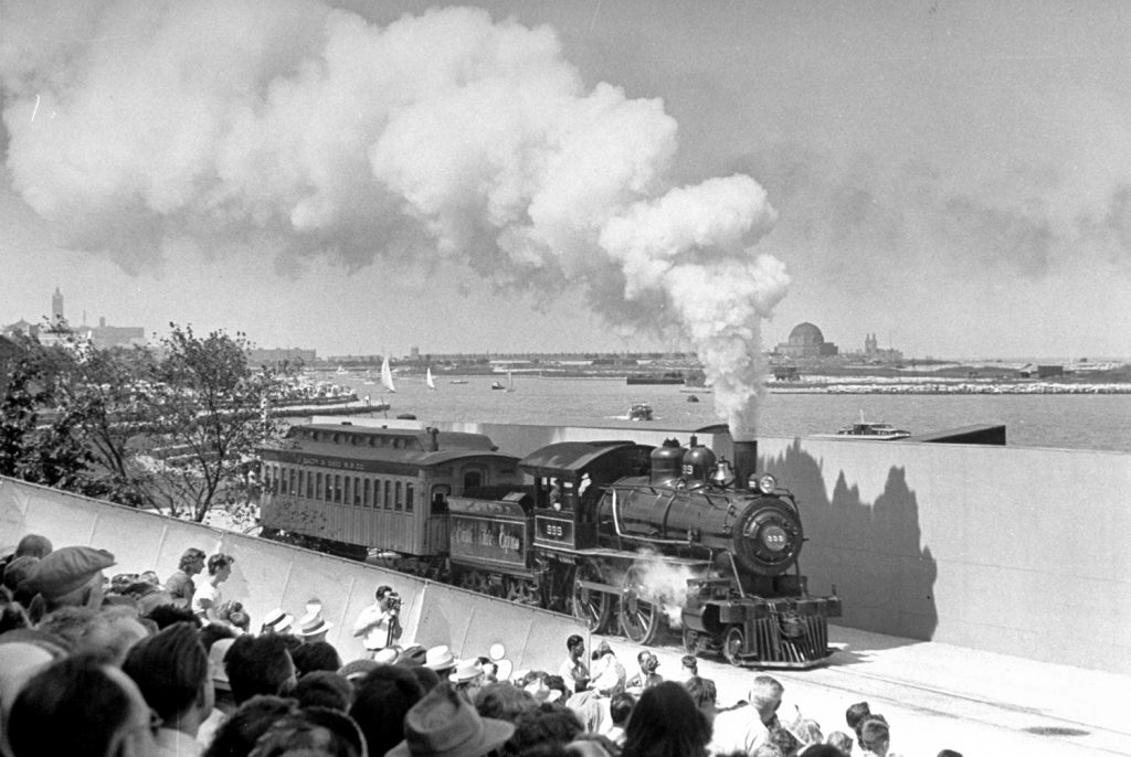 The Empire State Express at the Chicago Railroad Fair, 1948.