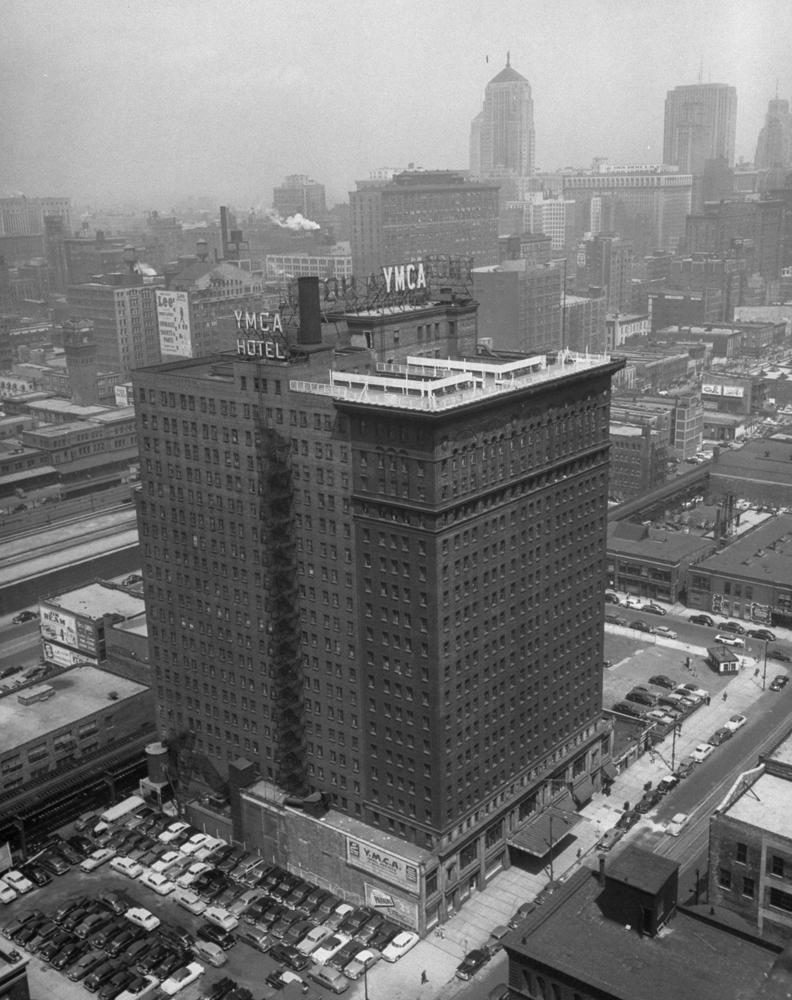 The Y.M.C.A. hotel, Chicago, 1951.