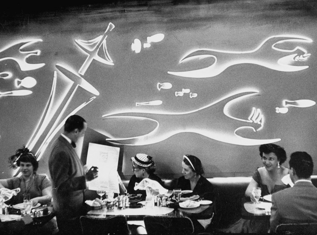 The Sea Restaurant, Chicago, 1952.