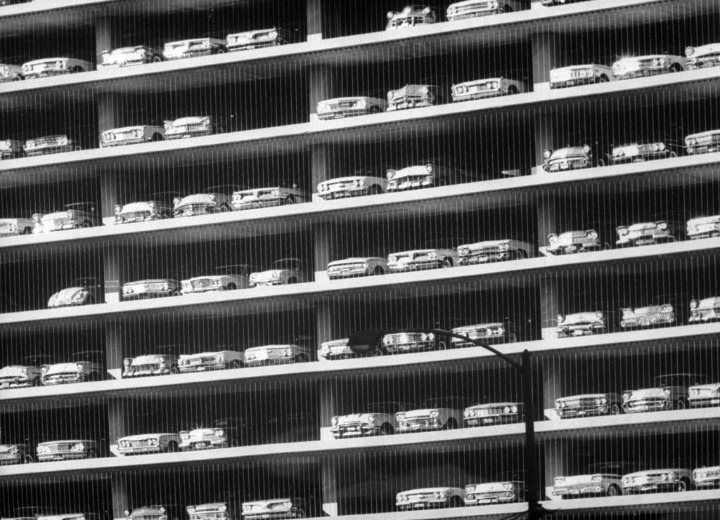 Chicago garage, 1961.