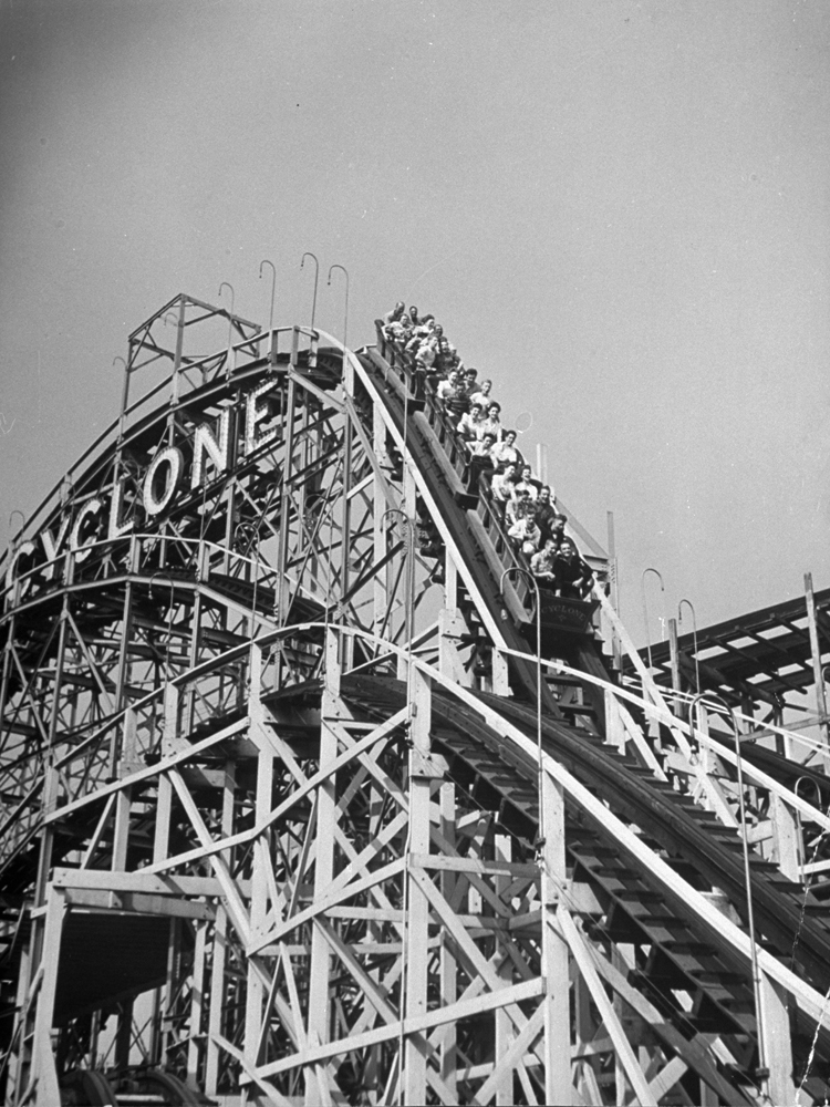 The Coney Island Cyclone, 1944.