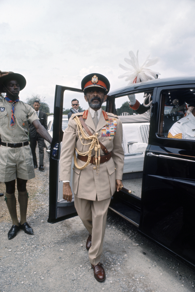 Scene during Emperor of Ethiopia Haile Selassie I's visit to the Caribbean, 1966.
