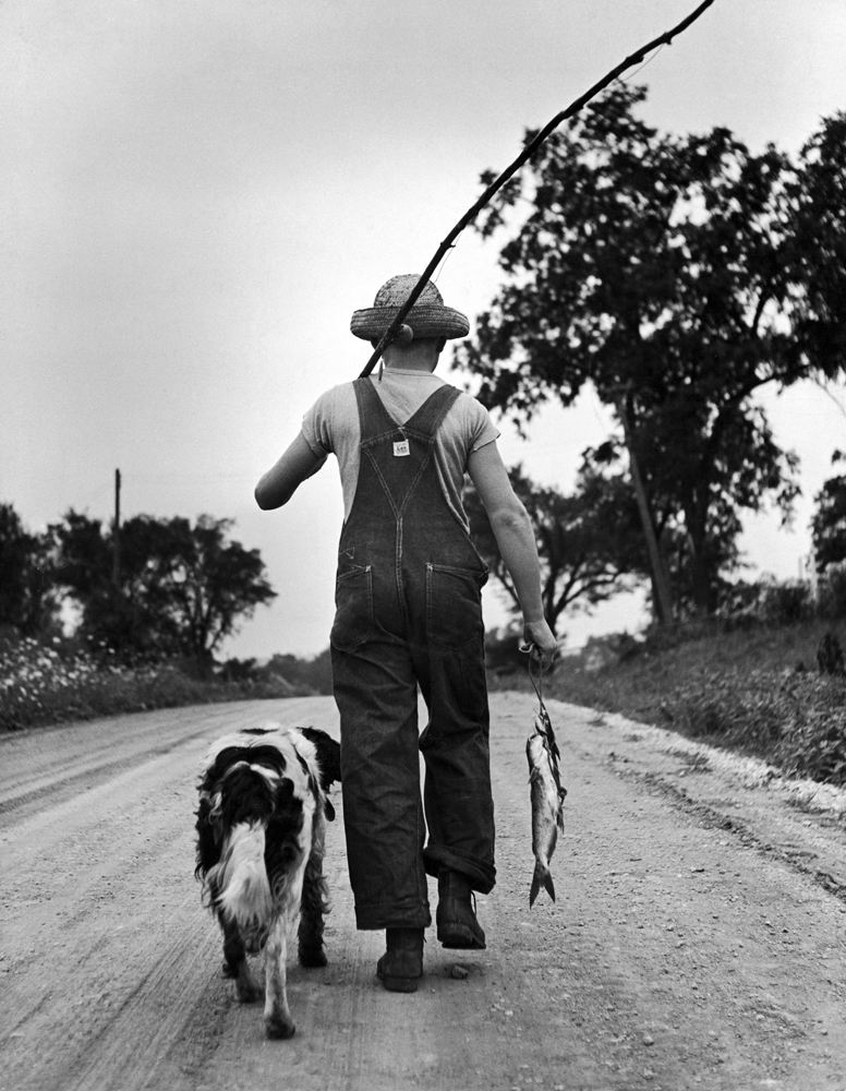 Larry Jim Holm and Dunk, Iowa, 1945