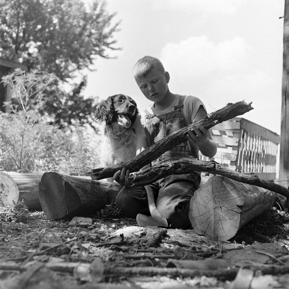 Larry and Dunk, Iowa, 1945.