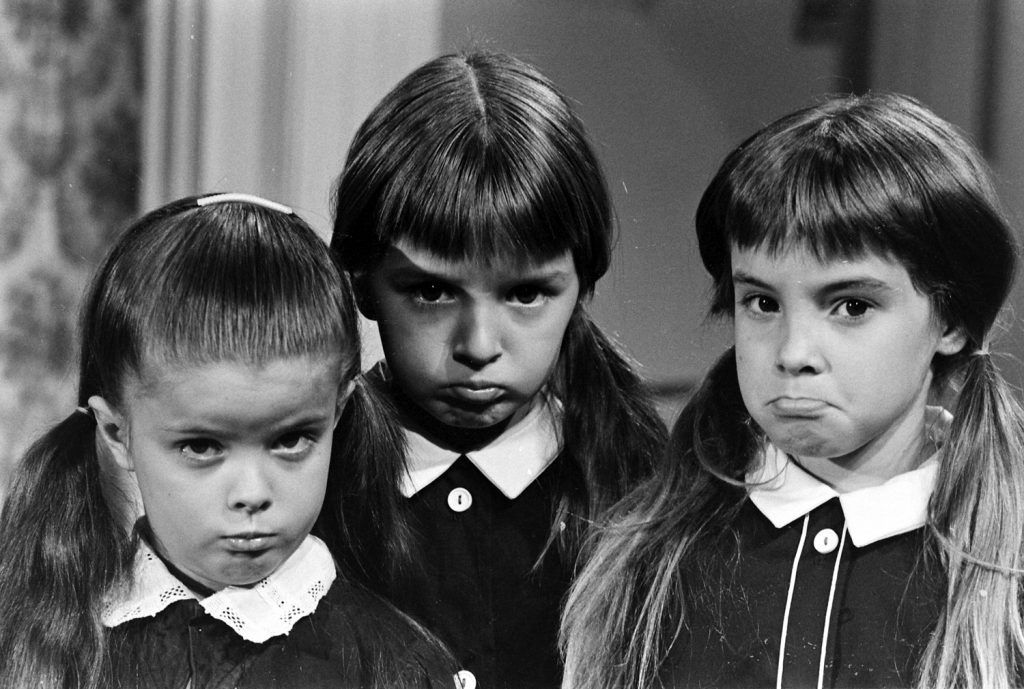 Girls auditioning for the role of Wednesday Friday Addams -- including Lisa Loring, at left, who was eventually cast.