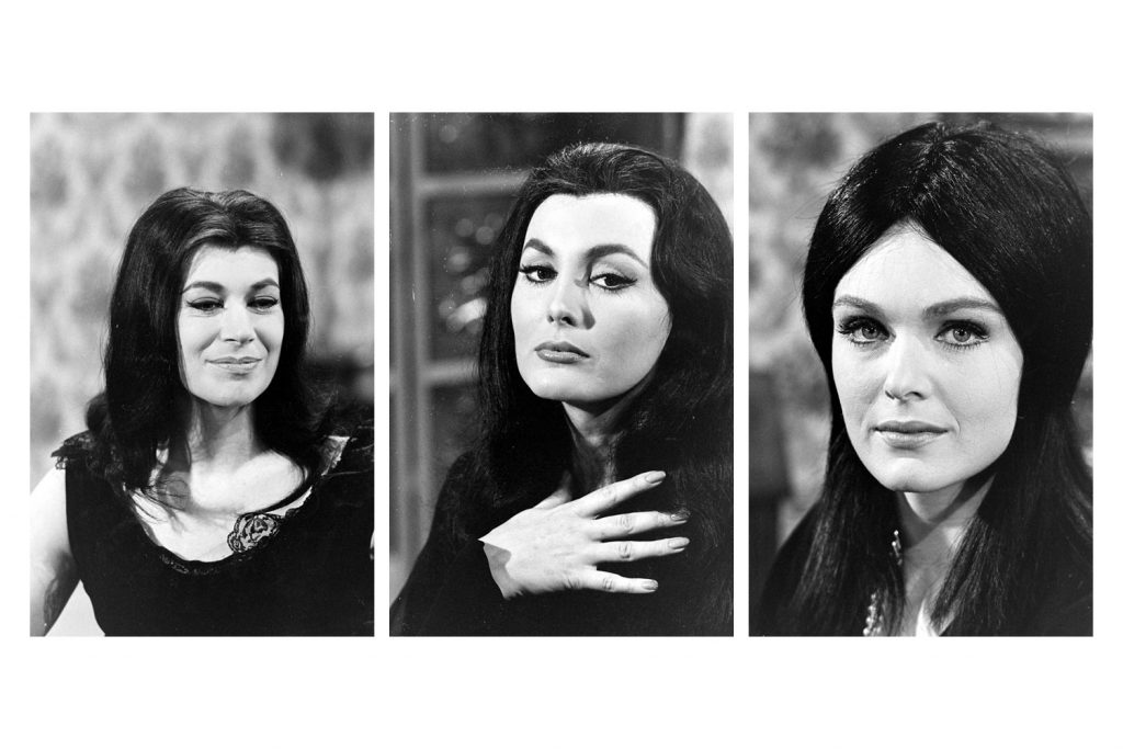 Unidentified actresses who tried out for the role of Morticia Addams, 1964.
