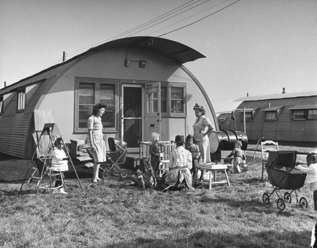City veterans housing project, Canarsie, Brooklyn, 1946.