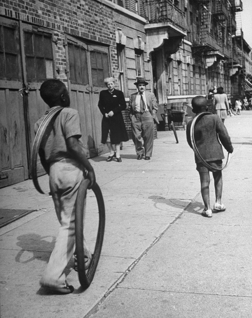 Brooklyn street scene, 1946.