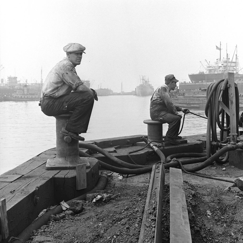On the waterfront, Brooklyn, 1946.