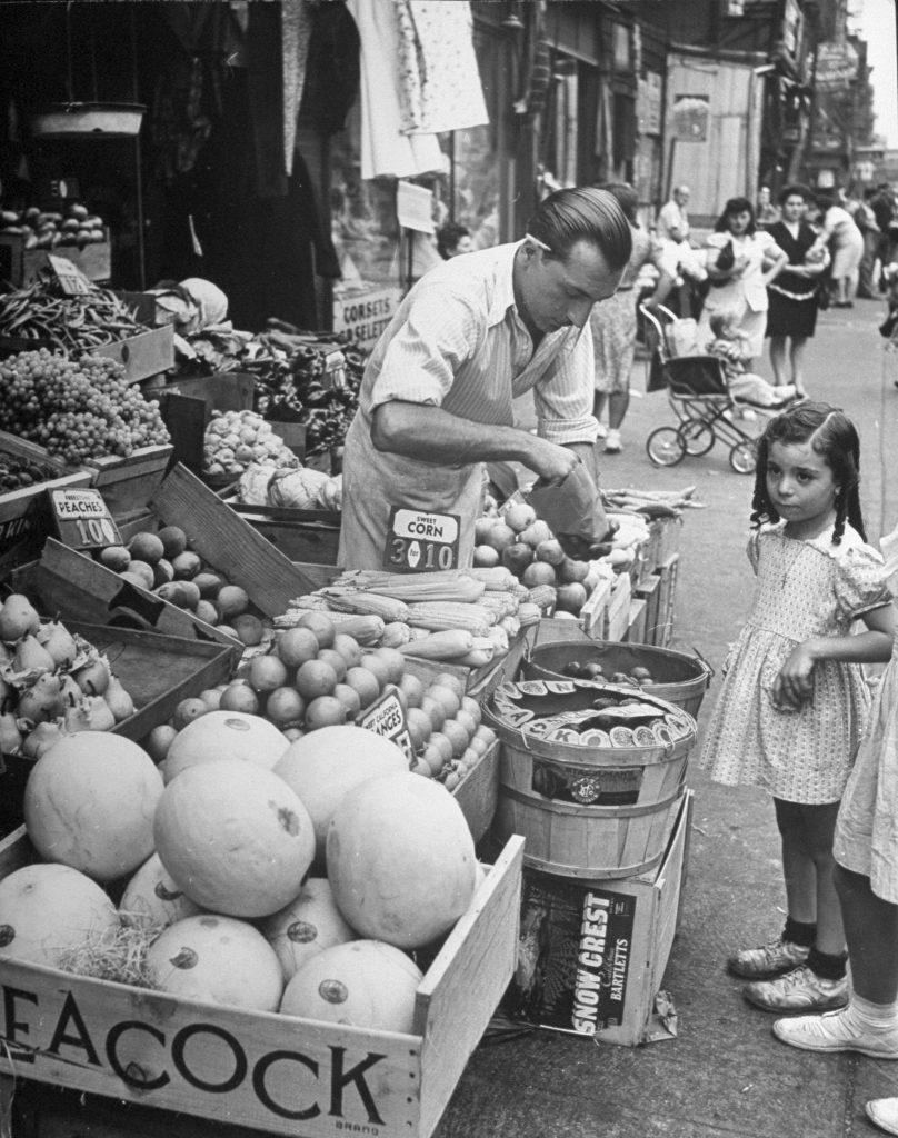 Moore Street near Graham Avenue, Brooklyn, 1946.