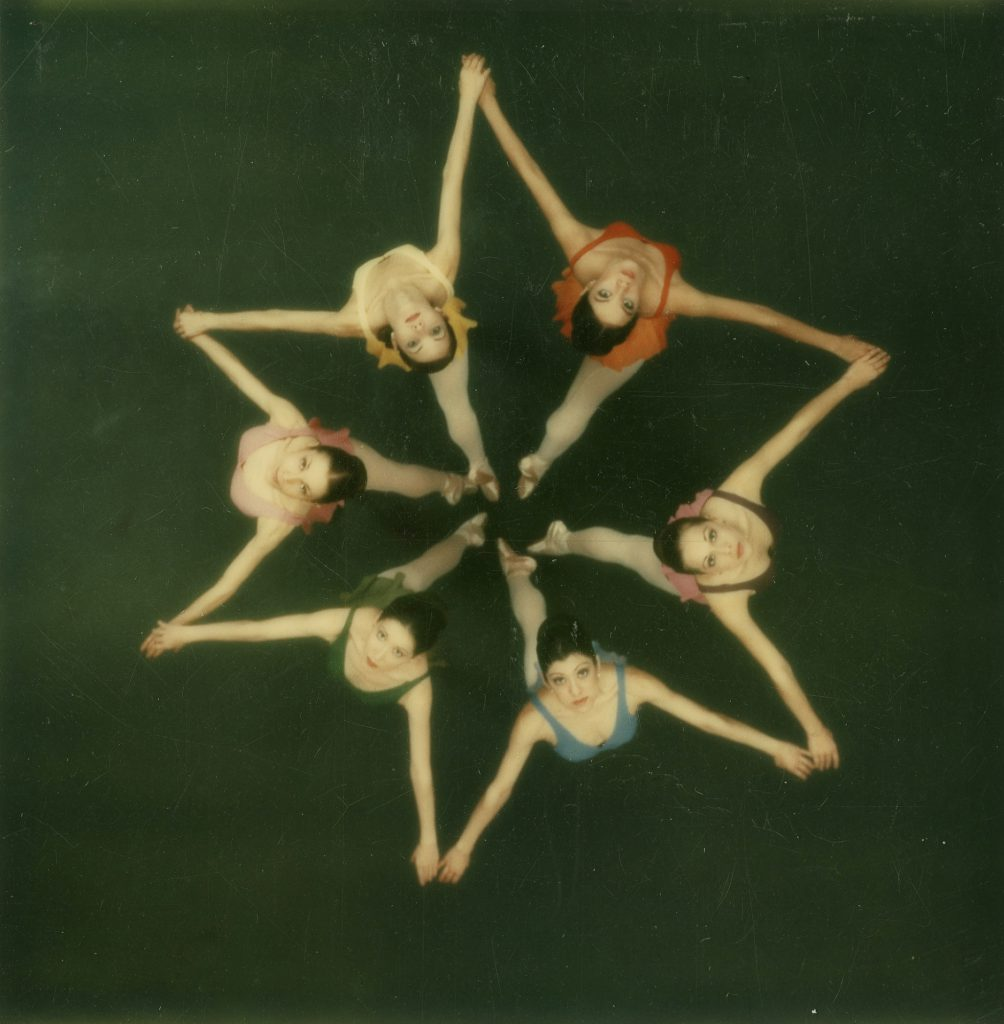 Dancers photographed from above with a Polaroid SX-70 camera, 1972.