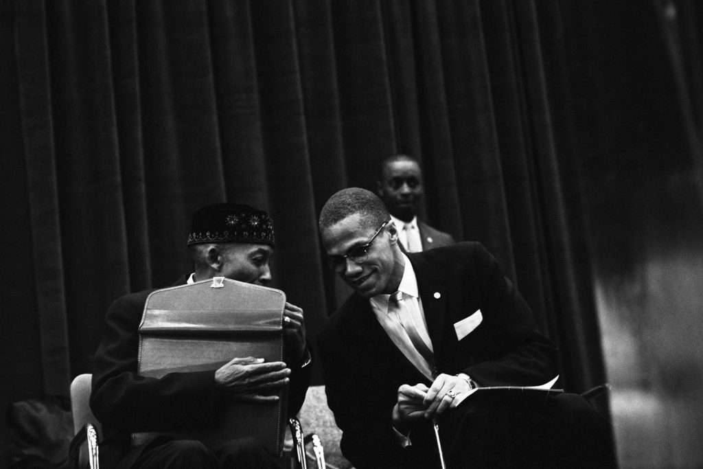 Elijah Muhammad and Malcolm X, Chicago, 1961.