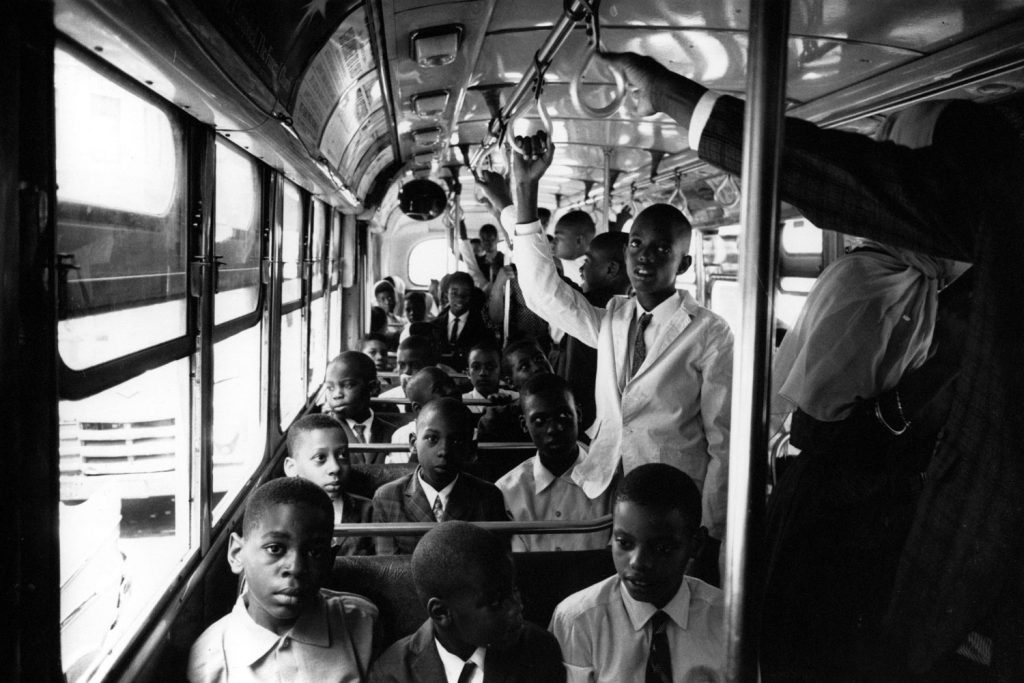 Children of members of the Nation of Islam on their way to the Metropolitan Museum of Art, New York City, 1961.