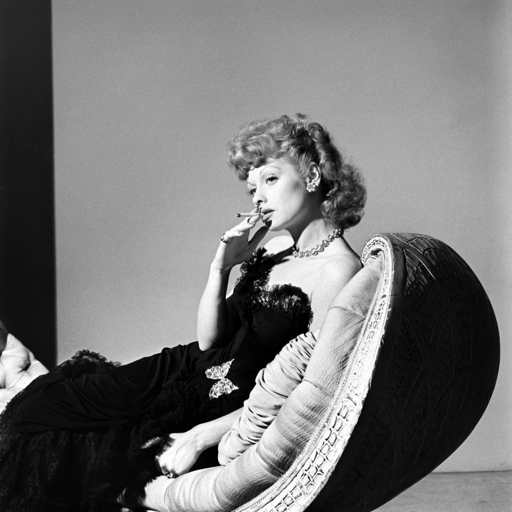 Lucille Ball, 1942. An outtake from John Florea's 1942 photo essay on Ball, which touted her as being on the brink of fame after a decade of kicking around Hollywood.