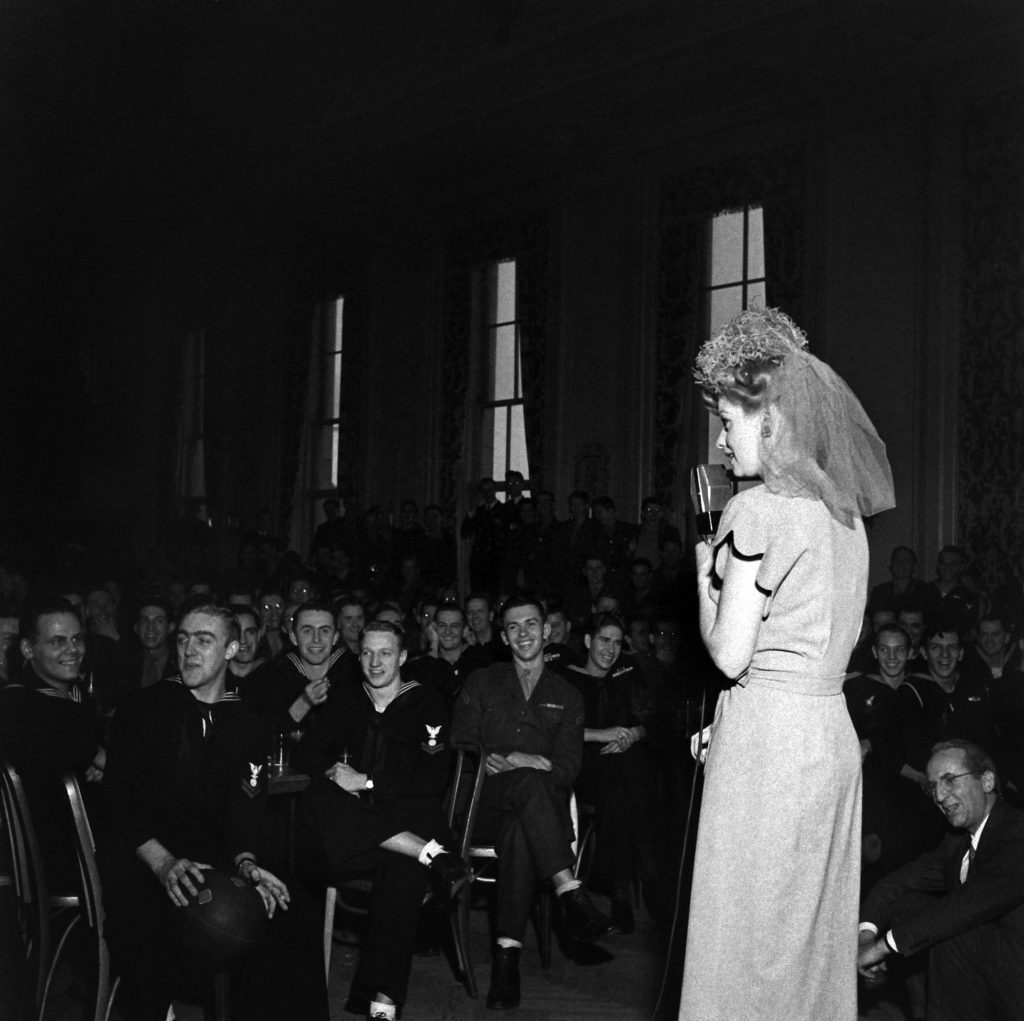 Lucille Ball performs at one of the gala balls in Washington marking President Franklin D. Roosevelt's birthday in January 1944.