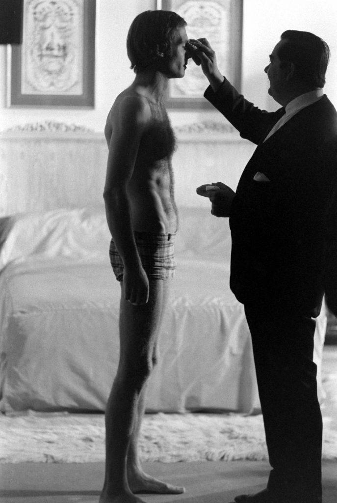 James Bond audition candidate John Richardson (left), in profile, 1967.