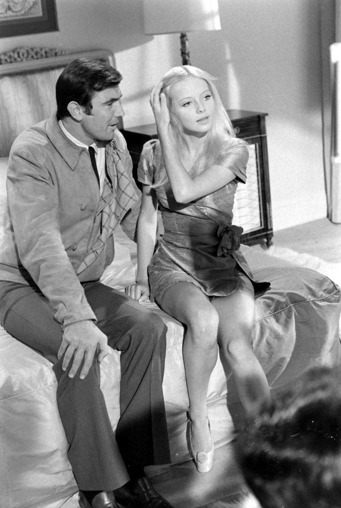 George Lazenby and Bond Girl hopeful Agneta Eckemyr, 1967.