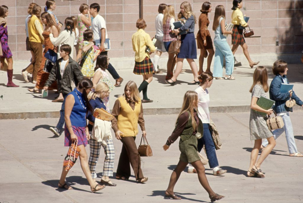 Students at Woodside High in California, 1969.