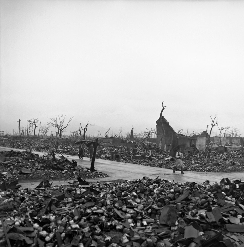 Hiroshima, 1945, two months after the August 6 bombing.